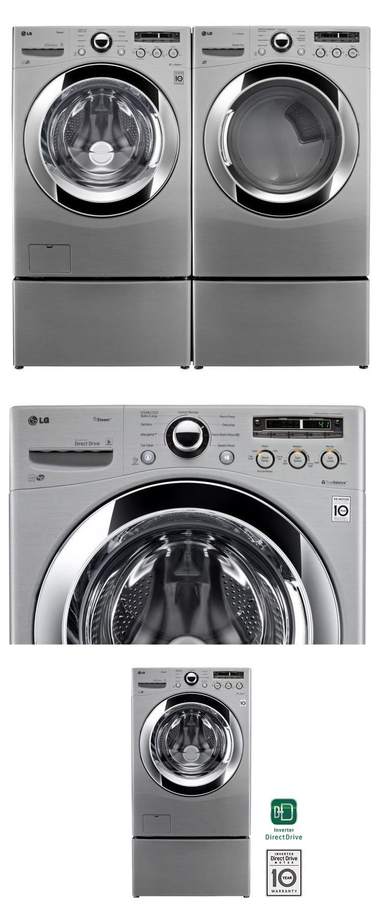 Lg truesteam frontload washer u dryer combo unit like new