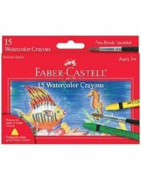 Faber Castell Watercolor Crayons With Brush 15 Pk Amazon Com