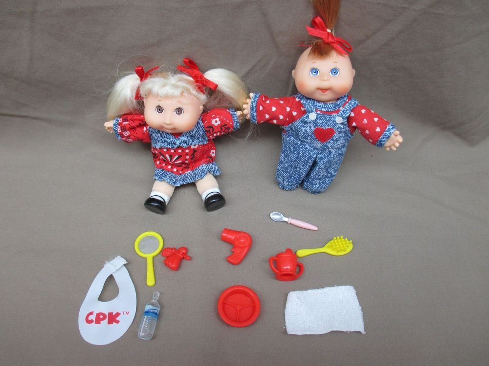 Hot Cabbage Patch Kids Minis Triplets PVC Doll PVC Figures Set with Accessories