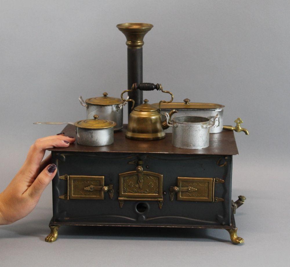 Antique German MARKLIN Tin Miniature Dollhouse Kitchen Toy Stove Alcohol Burner #Marklin