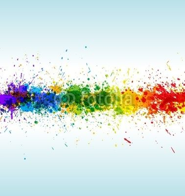 Wall Mural color paint splashes. gradient vector Photo
