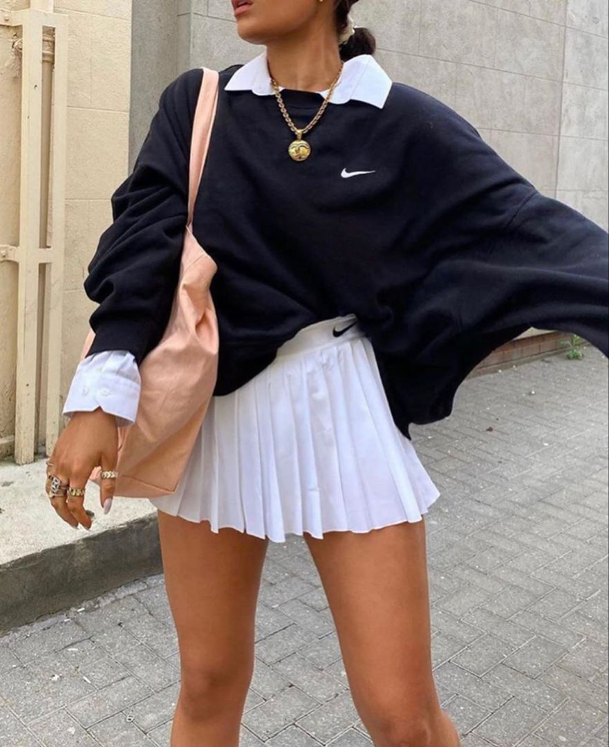 Tennis Skirt Outfit In 2020 Tennis Skirt Outfit Athleisure Outfits Fashion
