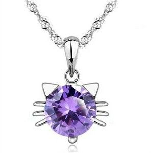 Silver 925 Stylish Hello Kitty Necklace