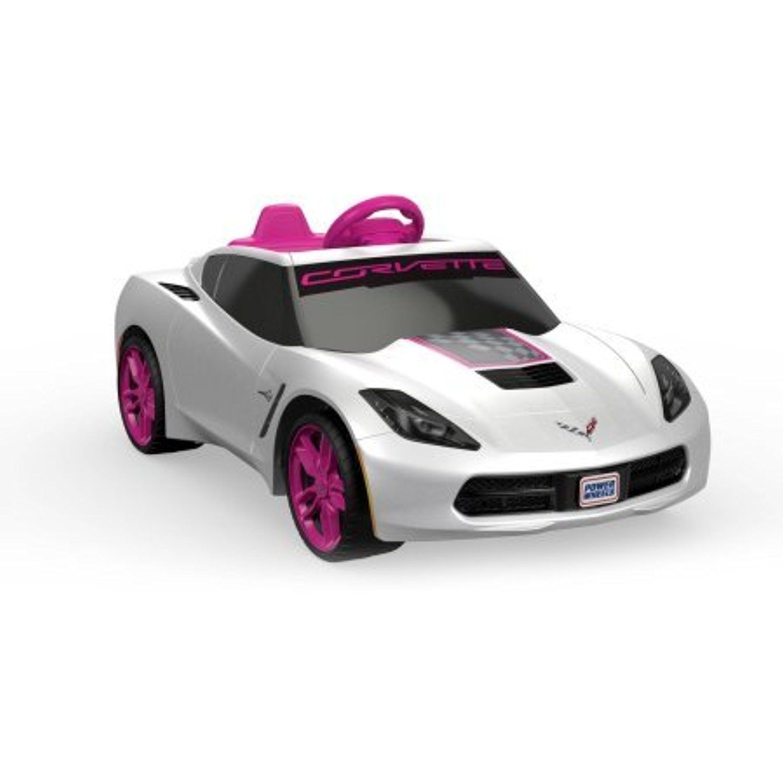 fisher price power wheels girls\u0027 corvette 6v battery powered ride on