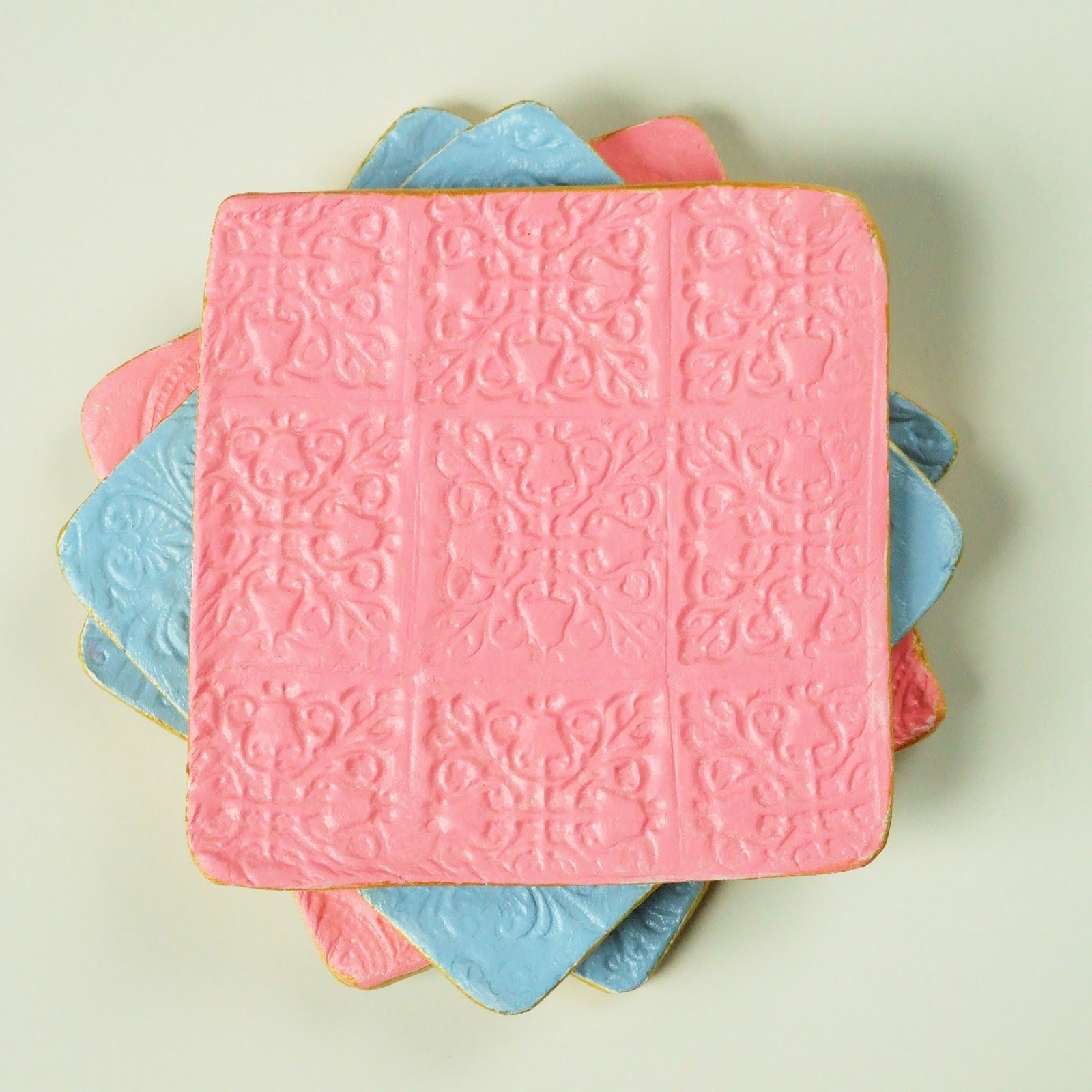 DIY STAMPED CLAY COASTERS. (With images) Diy stamp, Clay