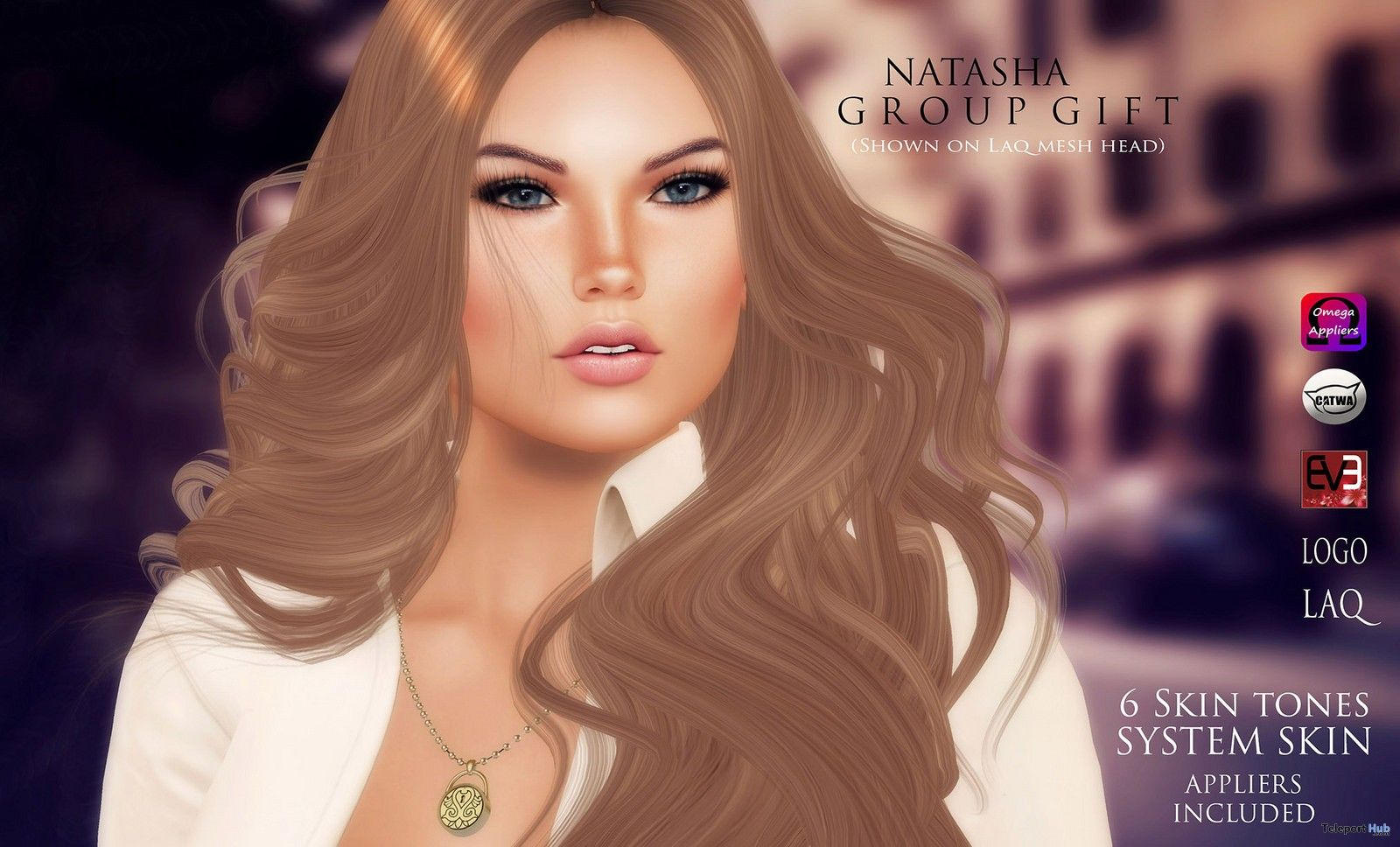 Natasha Skin 6 Tones With Appliers Group Gift by WOW Skins