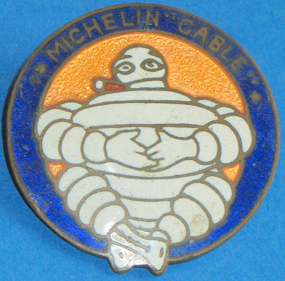 Michelin Cable tyre logo vintage enamel pin badge  Czecoslovakian manufacture
