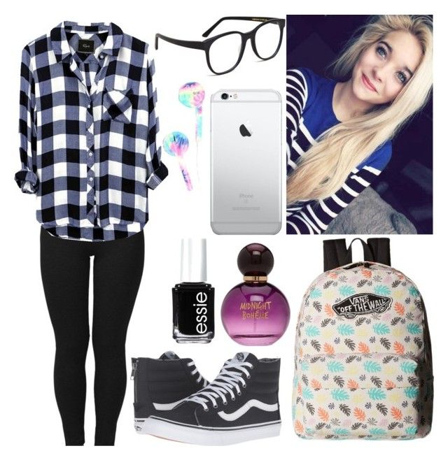 """~Madison"" by xxgraveyardbabyxx on Polyvore featuring Vans, Larke, Forever 21 and Essie"
