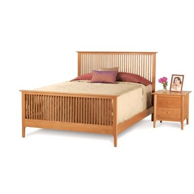 Sarah Spindle Bed With High Footboard Size King Finish Natural