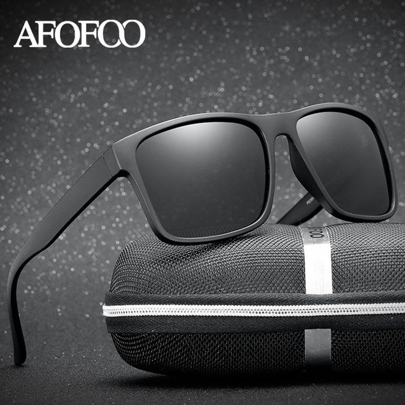 89e3f987500 AFOFOO Mens Polarized Sunglasses Vintage Square Brand Designer Men Driving  Sun glasses UV400 Retro Women Shades