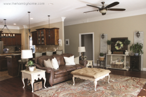 Paint Color: SW Windsor Greige - Traditional Rustic Living ...
