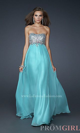 For Bailee - JR/SR One day!!! Strapless Evening Gown by La Femme at ...