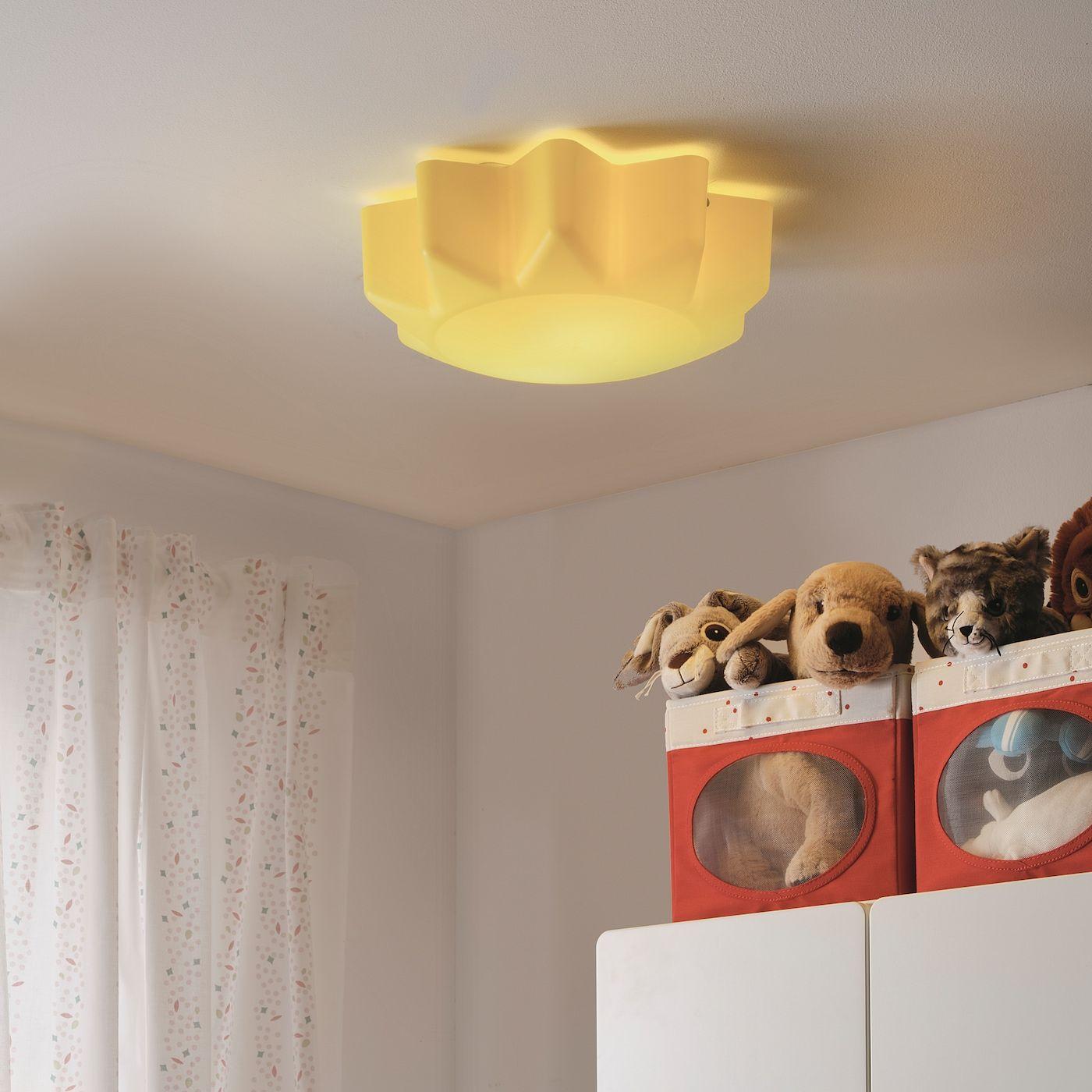Solhem Deckenleuchte Gelb Sonne Ikea Osterreich In 2020 Ceiling Lamp Kids Furniture Stores Lamp
