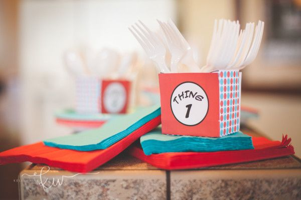 Dr. Seuss Party: Riot's Thing 1 and Leighton's Thing 2 - Mimi's Dollhouse