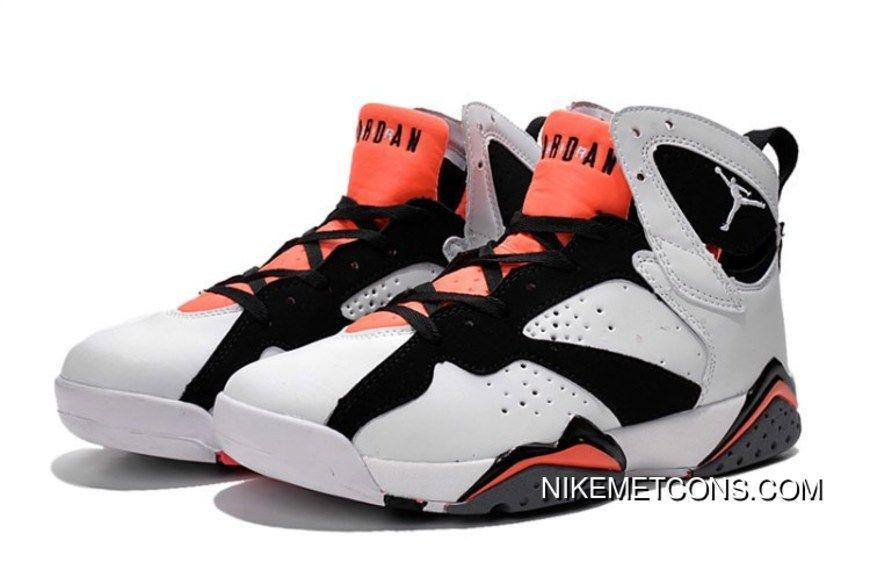 Copuon Air Jordan 7 White/Black-Hot
