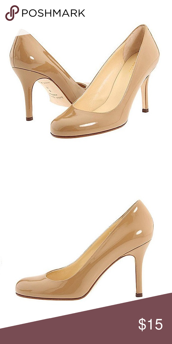 d427ca5d0b71 Kate Spade Karolina nude patent leather heels Authentic Kate Spade New York  round toed nude heels. Heels show signs of wear at heel and have a replaced  ...