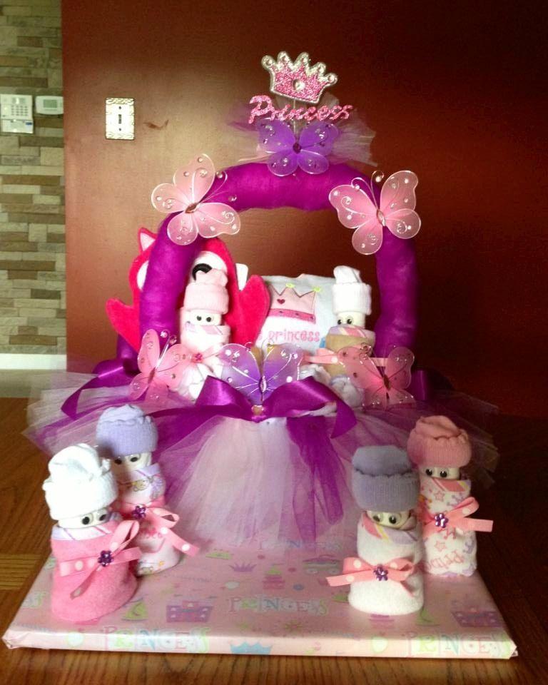 Princess Erflies Diaper Cake Basket