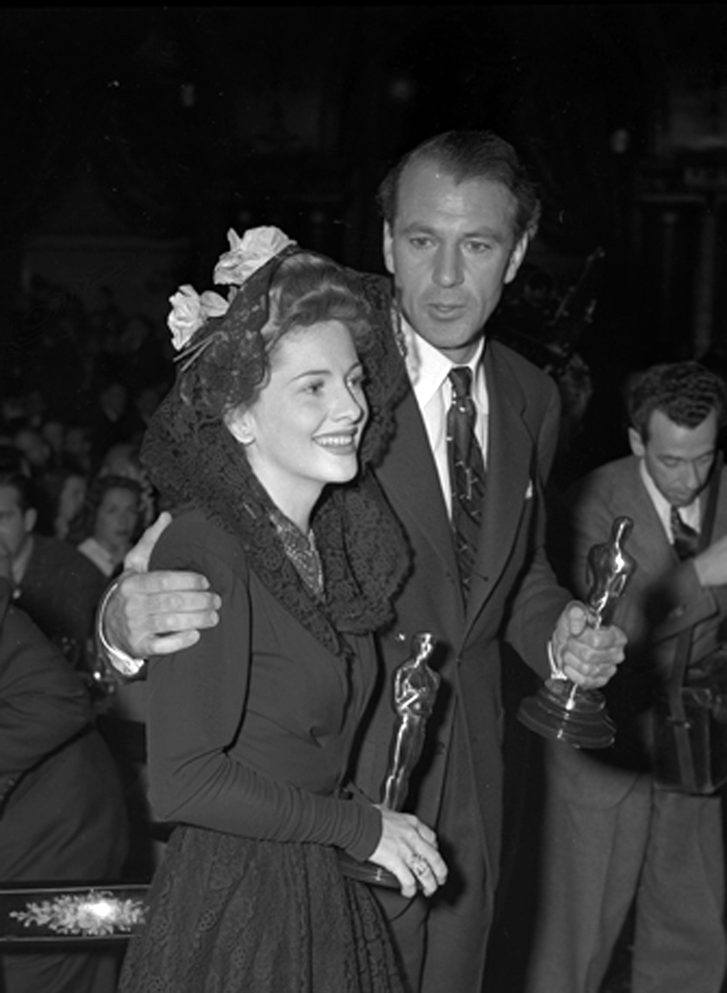 Joan Fontaine and Gary Cooper......Uploaded By www.1stand2ndtimearound.etsy.com