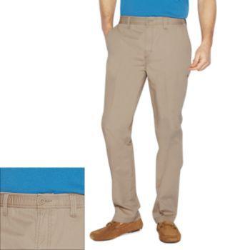 slacks flat s comfort comforter pants x front and pin haggar waist men corduroy brown