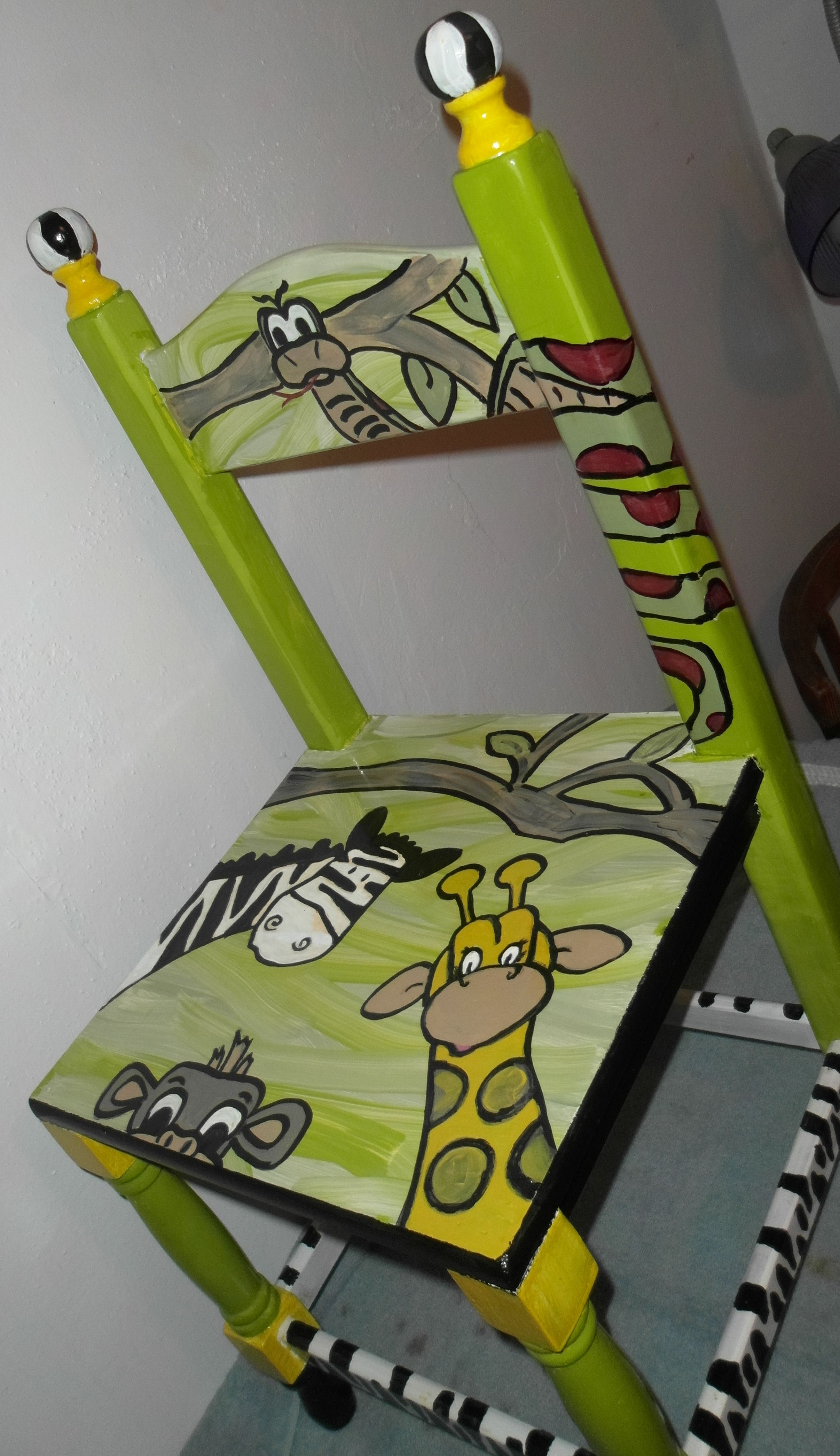 painted stools Hand painted furniture childrens by JulesDoodles on Etsy Projects Pinterest