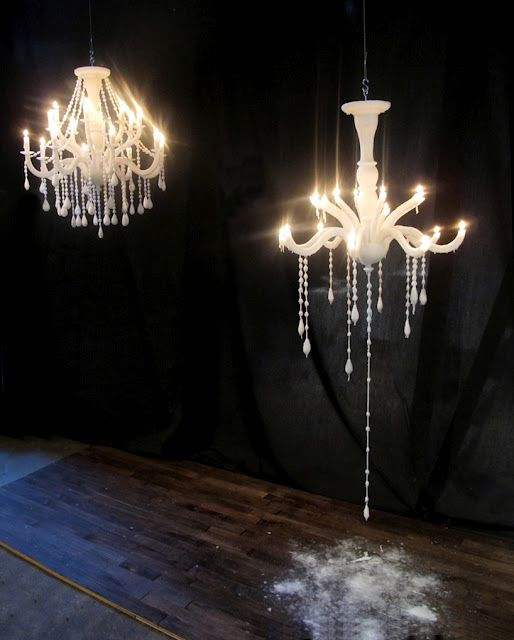 Takeshi Miyakawa Creates Chandeliers Made Entirely Of Wax And Wick As They Burn Consume