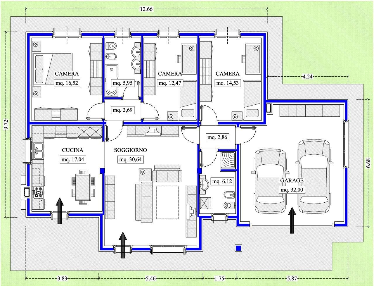 Case americane progetti case unifamiliari nel 2019 for Villette moderne progetti