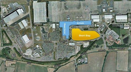 East Midlands Airport Parking Map Car Parking Arrivals/Dep Map   Just Pictures I Like   East
