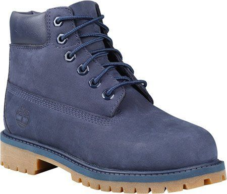 Timberland TB03793A484 Youth's 6-in Premium WP Boot Navy Monochrome 5 M US. Timberland. Boys. Boots. Navy.