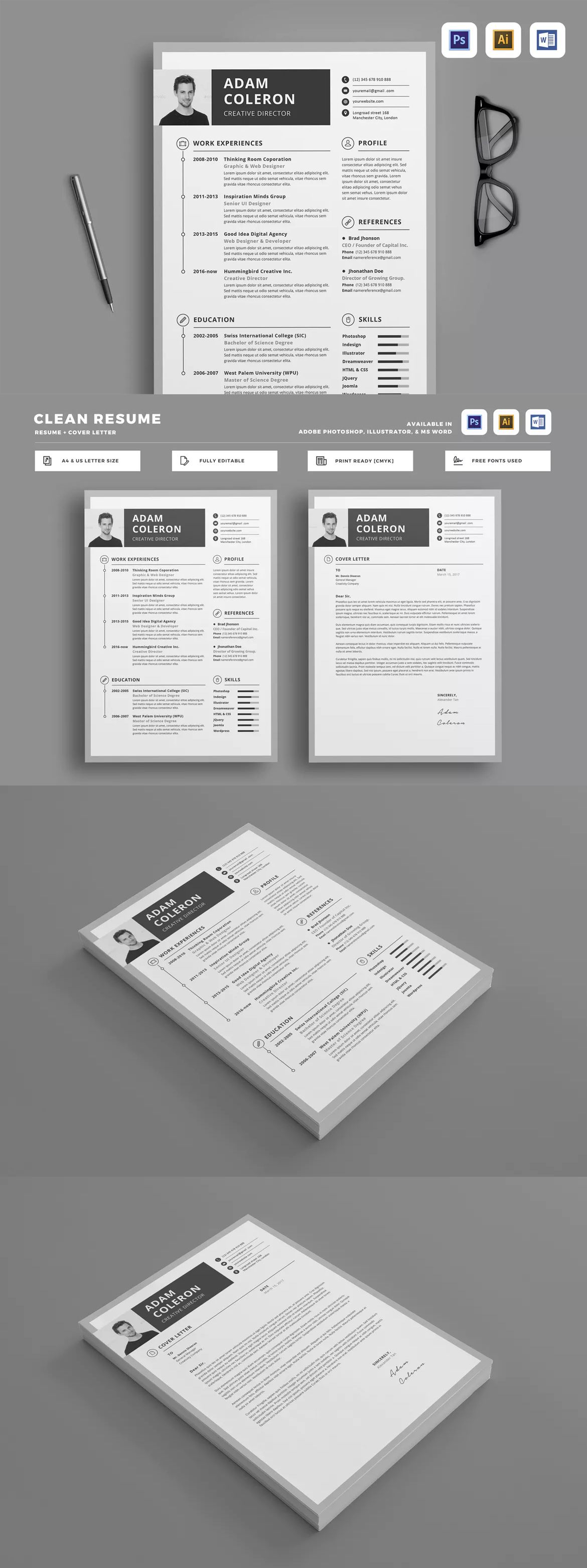 Resume by LeafLove on Cv design template, Invoice