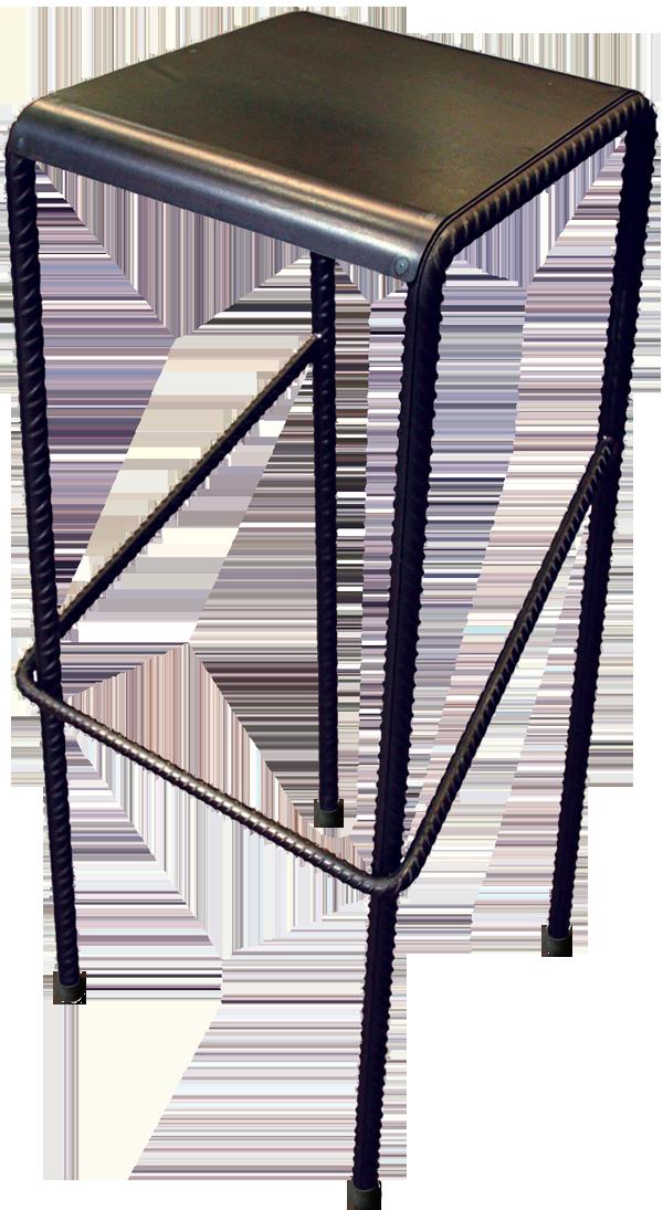 Tabouret Haut En Tole Acier Et Fer A Beton Made By Un Steel Fer A Beton Mobilier De Salon Tabouret Haut