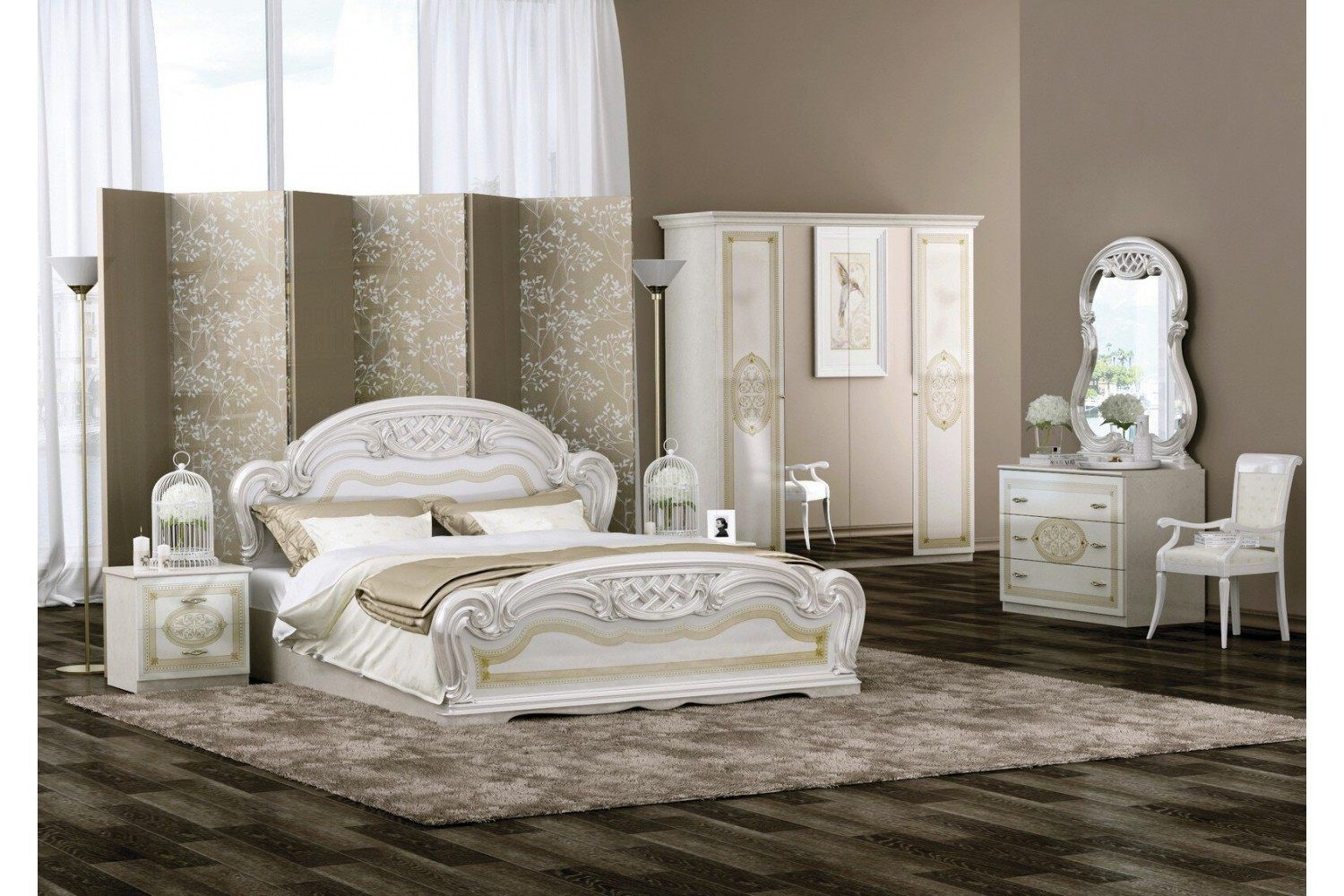 Schlafzimmer Barock Stil Lara In Beige 6teilig Italien Interdesign24 Schlafzimmer Grau Schlafzimmer Grau Bedroom Design Inspiration Home Bedroom Design