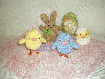 Amigurumi Bunny Pencil Holder : Etsy crochet patterns etsy easter bunny and chicks amigurumi