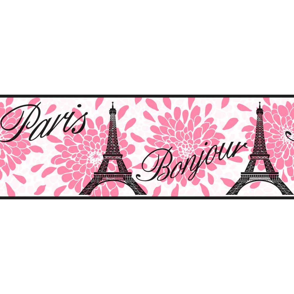 Cool Kids KS2264B Paris Border Pink paris wallpaper, Art