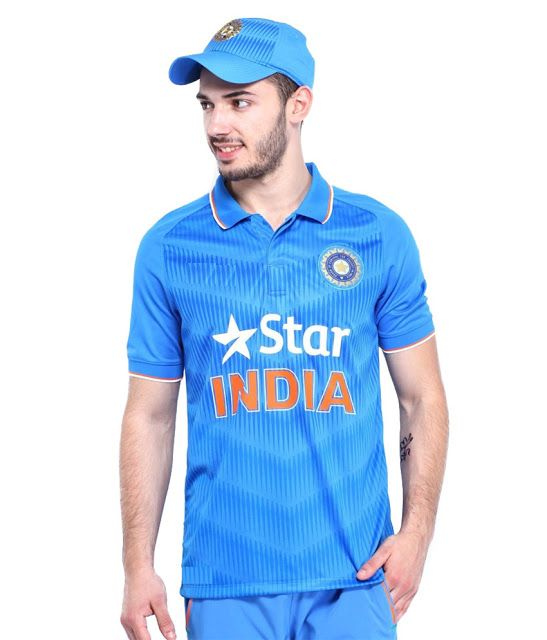 Rs.340 only   Snapdeal - Blue India Cricket Fan Jersey Polo T- Shirt    All Sizes available   1b55589f254
