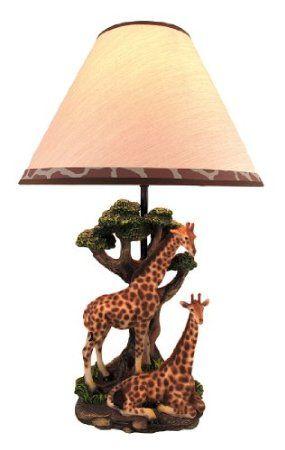 Amazon.com - Giraffe Couple Table Lamp w/ Spotted Shade Nature
