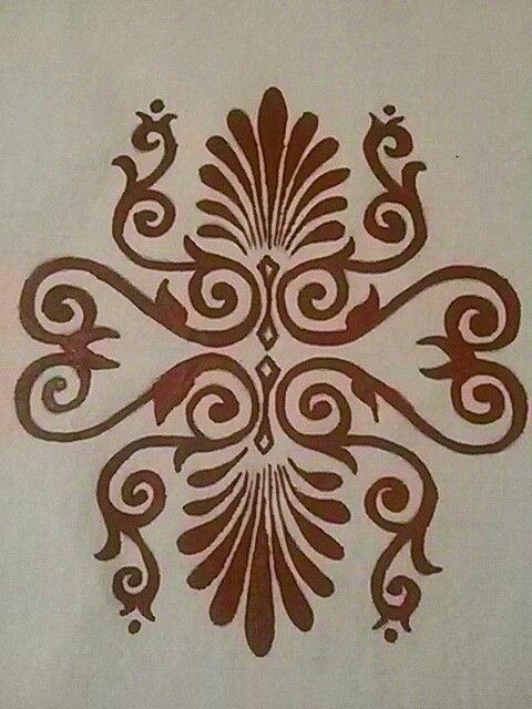 Dipinto a mano su tela di lino misto canapa