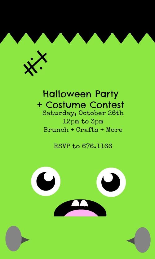 Kids Halloween Party Costume Contest Halloween Party Poster