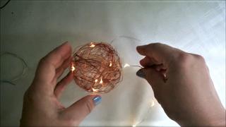 Pomysły plastyczne dla każdego, DiY - Joanna Wajdenfeld: Druciane lampiony typu cotton ball