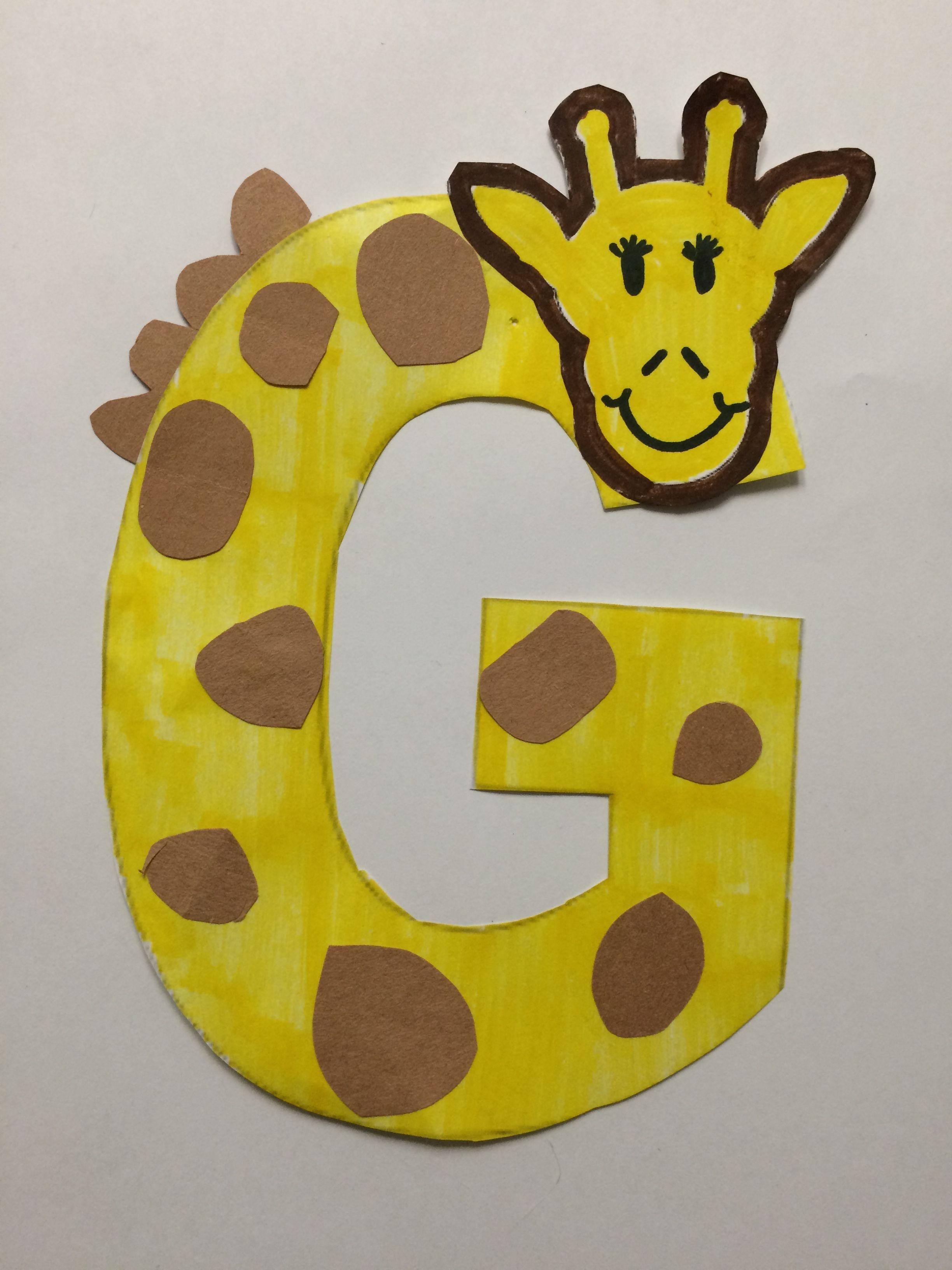 Alphabet Letter Craft Letter G Giraffe