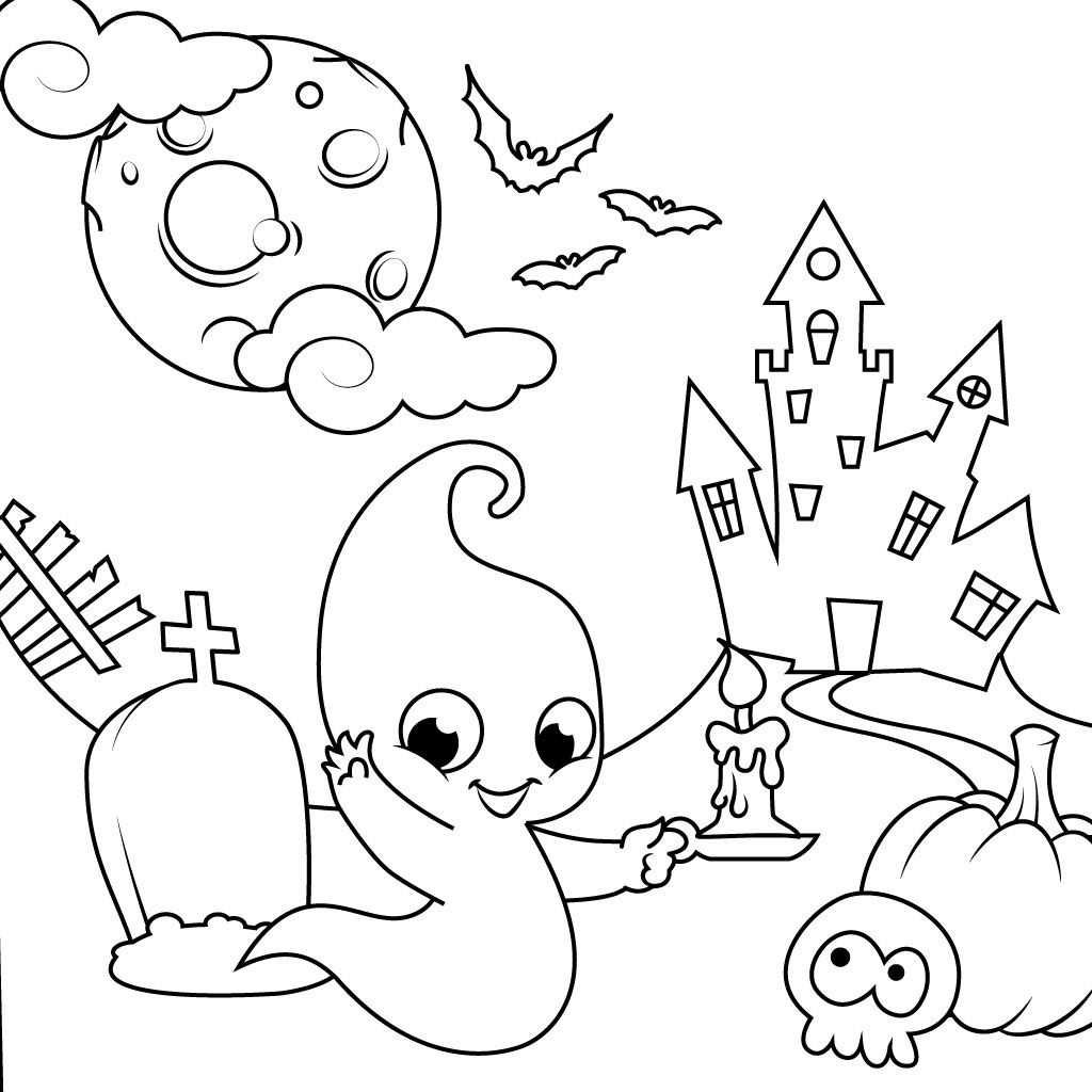 Halloween Coloring Pages For Kids AndroidiOS Windows Phone