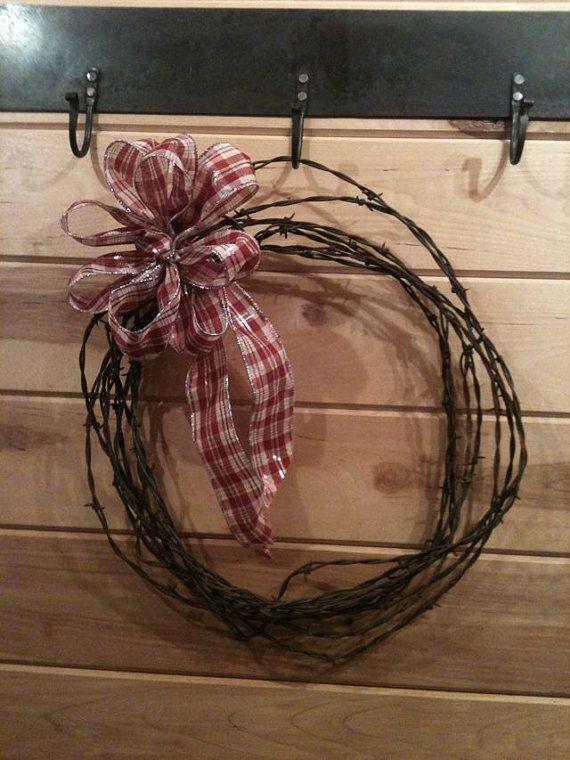 Barbed Wire Wreath   Vintage Barbed Wire Wreath Craft Ideas Pinterest Barbed Wire