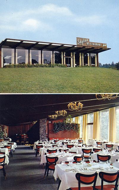 Skyline Restaurant And Terrace Lounge Catskill Ny Route 23 On The Rip Van Winkle Bridge Roach
