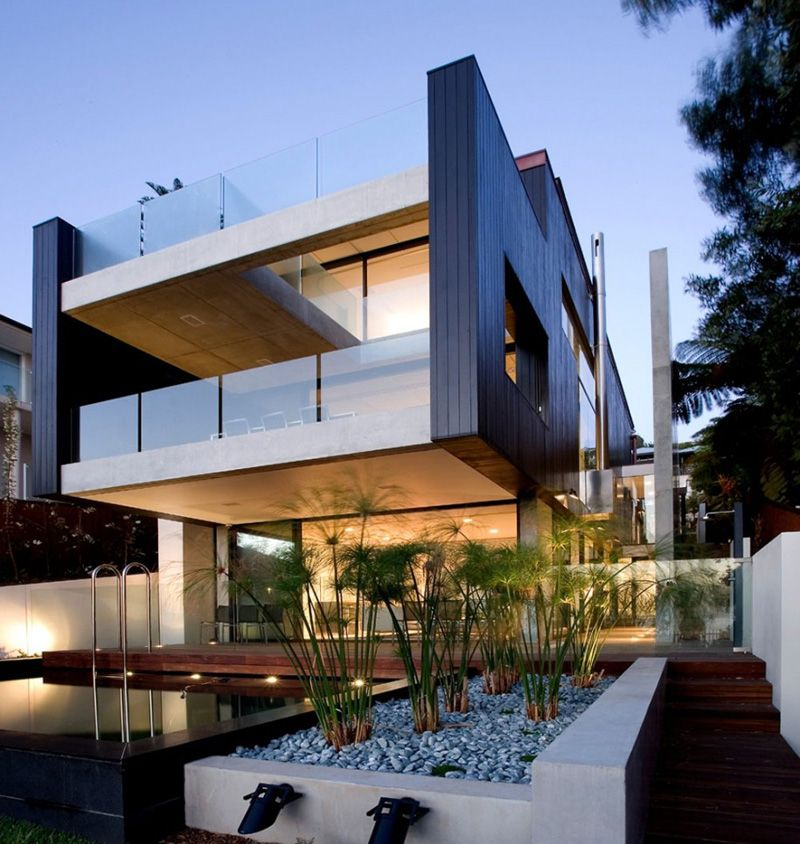40 Modern Pergola Designs And Outdoor Kitchen Ideas Modern Beach House Beach House Plans Beach House Design
