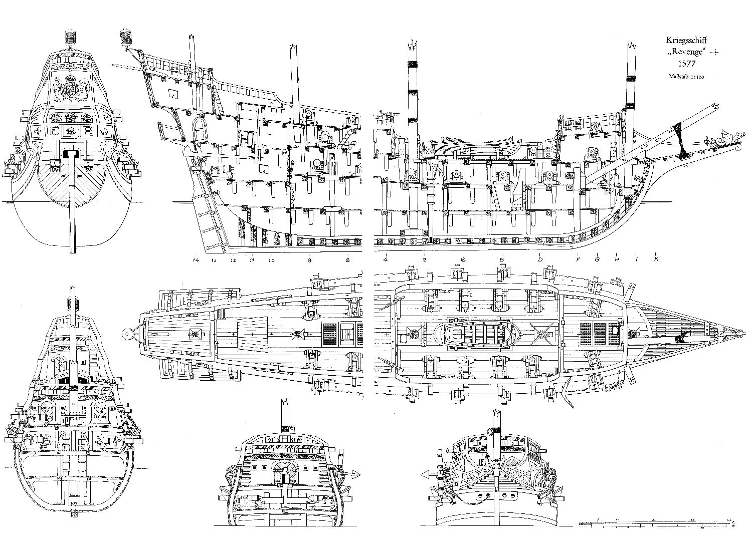 wood ship blueprints google search [ 1500 x 1100 Pixel ]