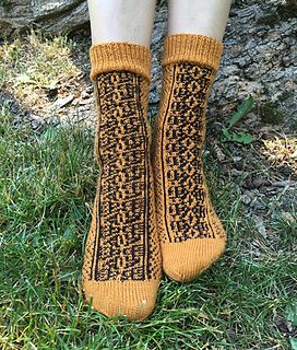 Six Tastes by Hypercycloid Designs - mosaic sock knitting pattern
