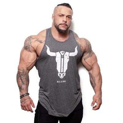 97983f95 Men Bodybuilding Stringer Tank Top Summer Casual Fashion Printed Sleeveless  Shirt Male Gyms Fitness Crossfit Undershirt Clothing
