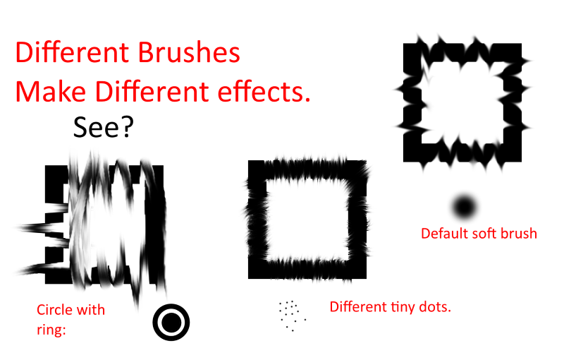 Smudge Tool with Different Brushes for Different Effects