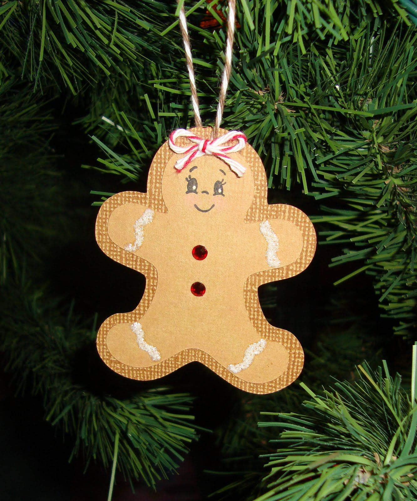 Gloras Crafts Gingerbread Candle And Ornament