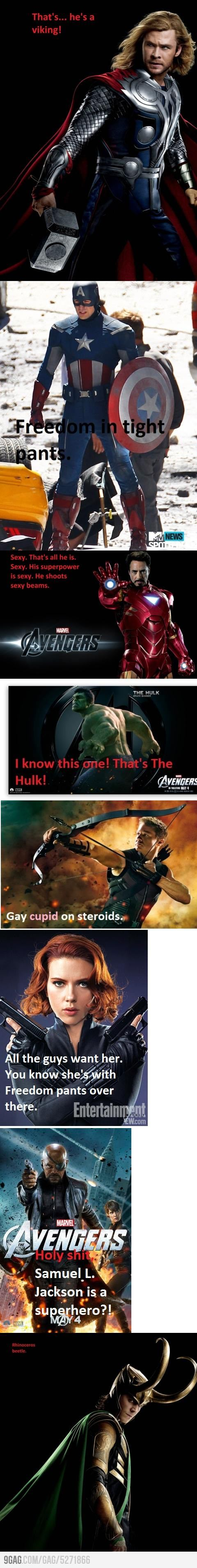 The only one I disagree with is Hawkeye...