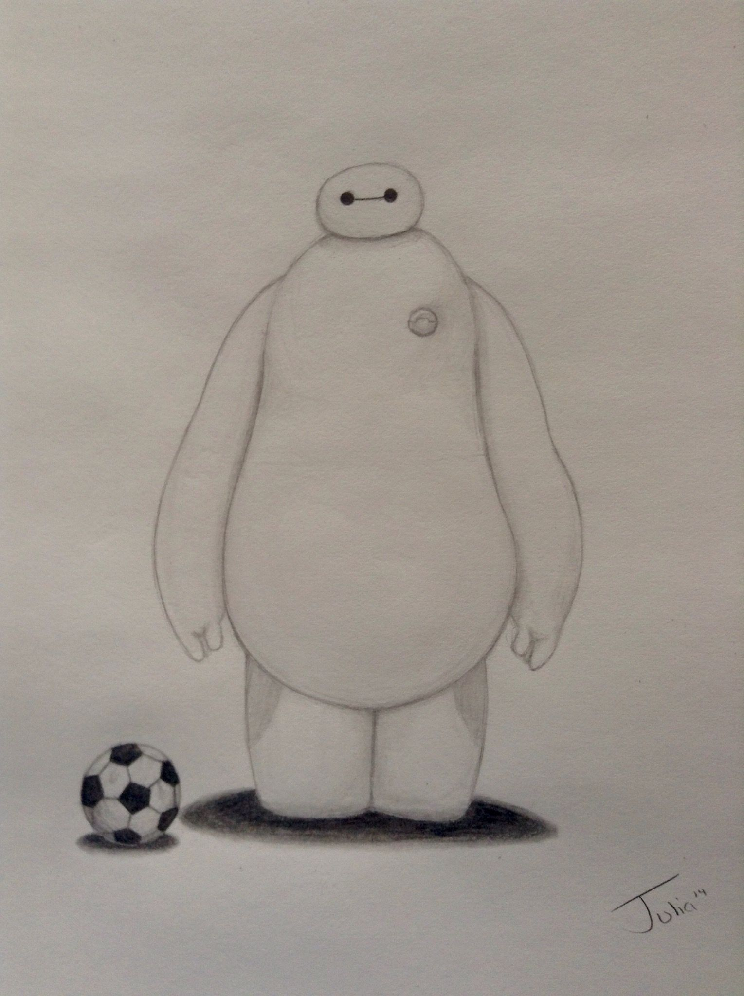 How To Draw Baymax From Disney S Big Hero 6